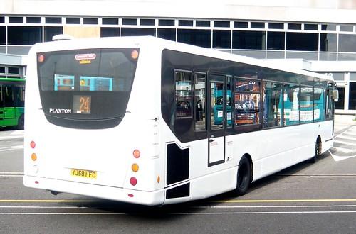 YJ58 FFC 'Arriva Midlands' No. 5996 VDL SB200 / Plaxton Centro /3 on 'Dennis Basford's railsroadsrunways.blogspot.co.uk'