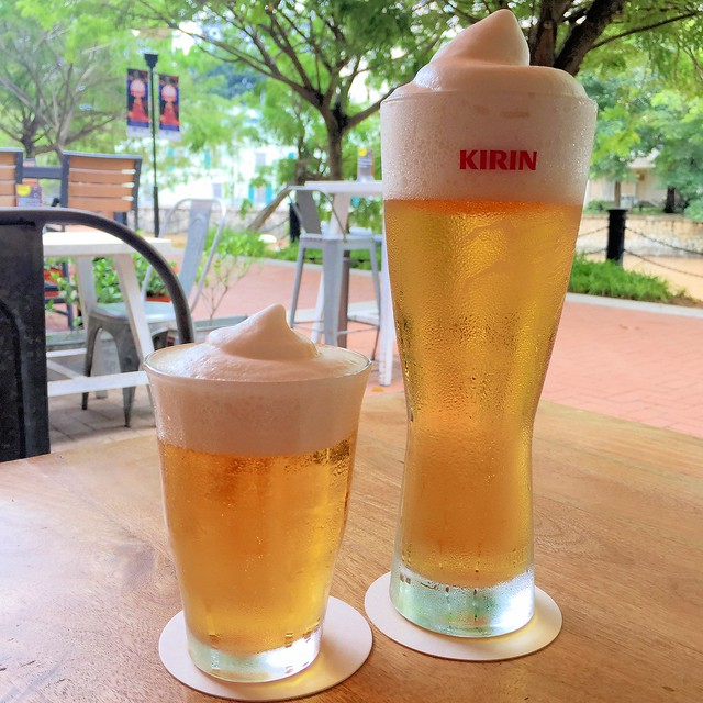 Frozen Beer - 1/2 pint & a full pint at Marusaya
