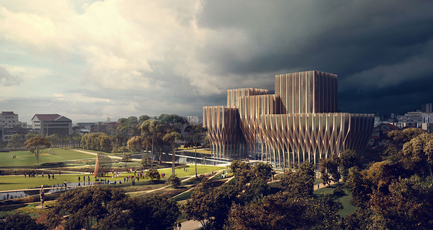 Sleuk Rith Institute in Cambodia design by Zaha Hadid Architects