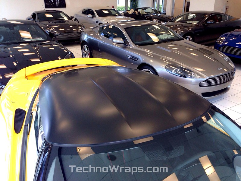 Exotic car roof wrap by TechnoSigns in Orlando