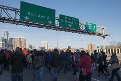 Black Lives Matter march down I-35W