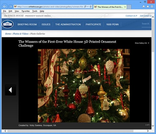 Ornament on White House Web Site