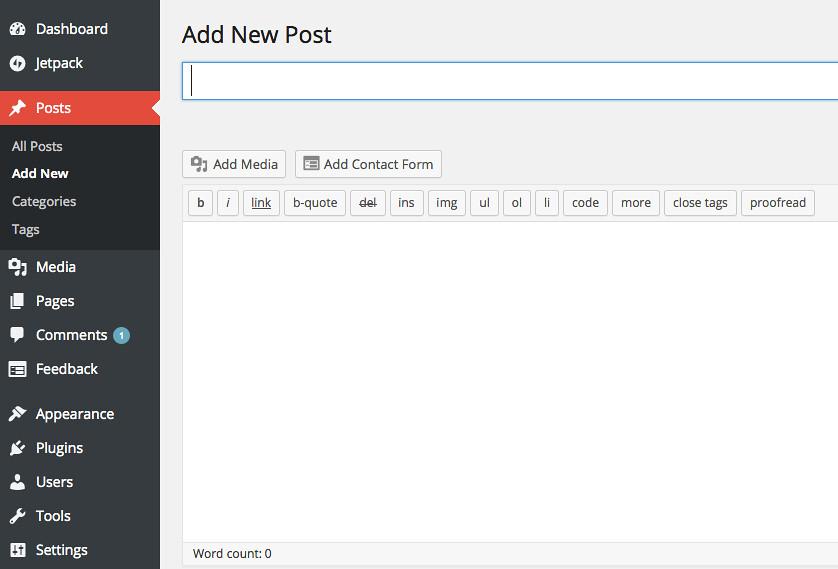WordPress - Add New Post