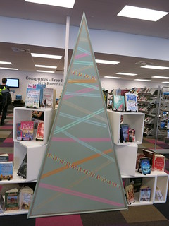 Christmas decorations at Central Library Peterborough