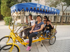 rickshaw, vehicle, transport, land vehicle,