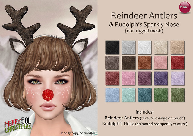 TDRF Christmas Round (Reindeer Antlers & Rudolph's Sparkly Nose)