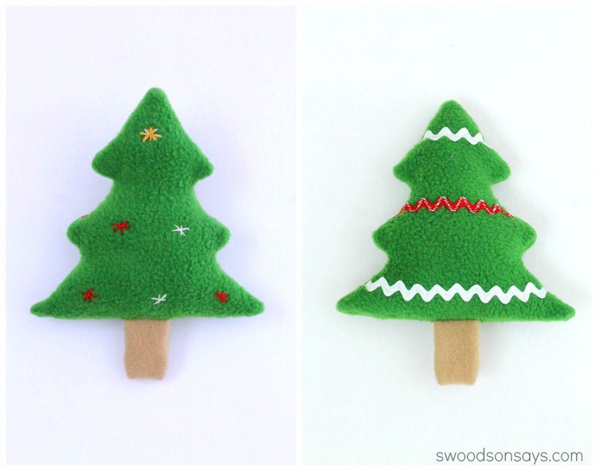 Free Christmas Tree Decoration Sewing Patterns : Free christmas tree softie sewing pattern swoodson says