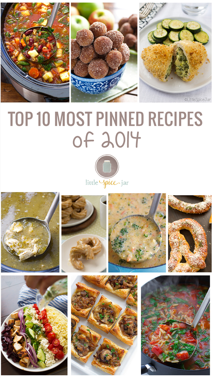 Top 10 Most Pinned Recipes of 2014