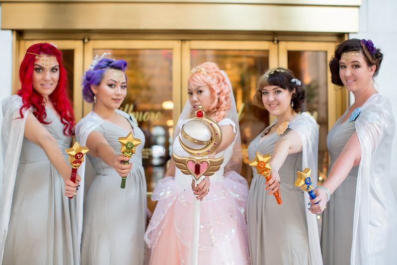 Sailor Moon wedding as seen on @offbeatbride