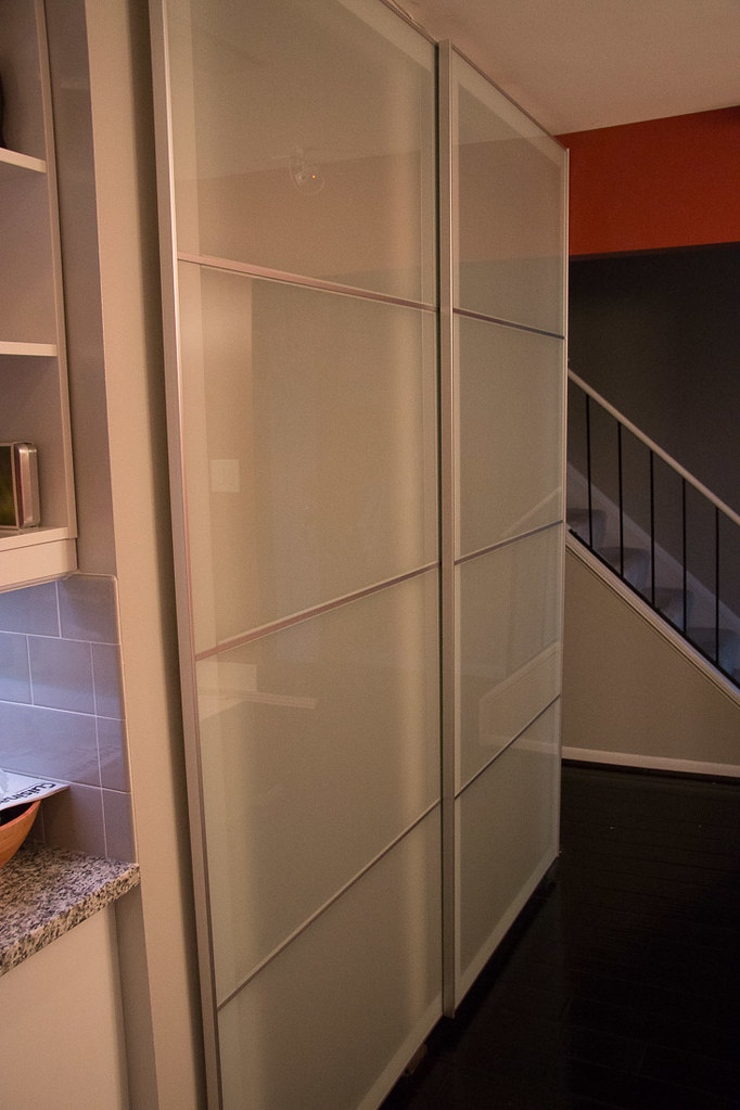 Ikea Pax system as sliding closet doors