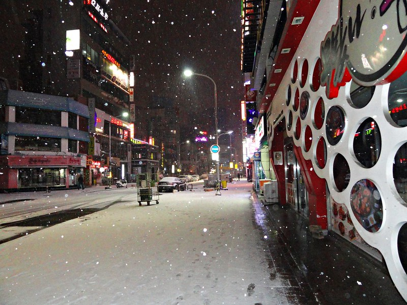 First snow in Seoul