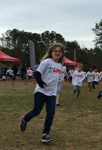 Catie at her school Fun Run.