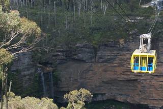 Skyway car and Katoomba Falls