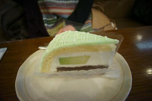 珠屋さんのメロンケーキ