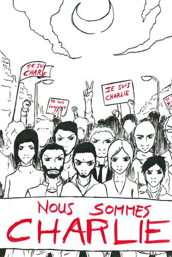 Nous sommes Charlie, par Jimmy Fontange - Les étudiants du CESAN rendent hommage