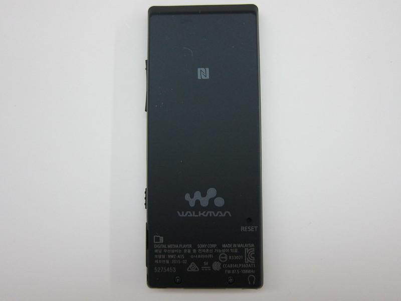 Sony NWZ-A15 - Back