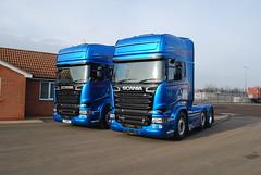 Scania R580 6x2 Topline Streamline - Blue Stream #16 1& #17