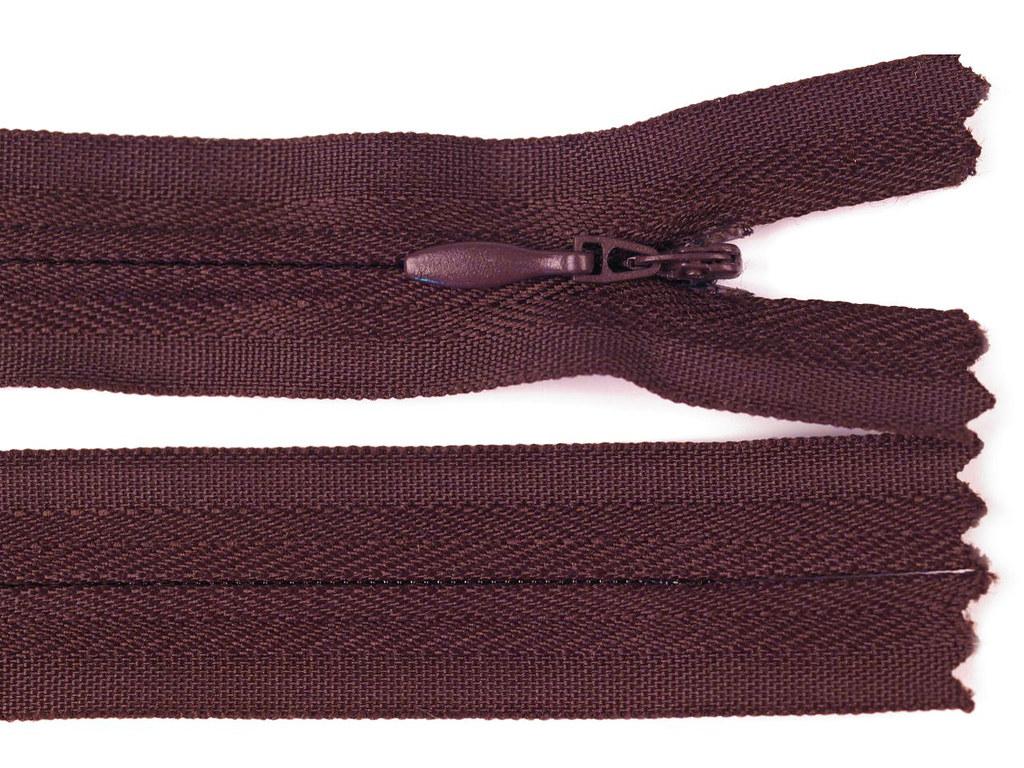 Reißverschluss 20cm, Rot-Braun