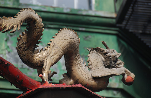 Dragon Lamppost in Vancouver's Chinatown