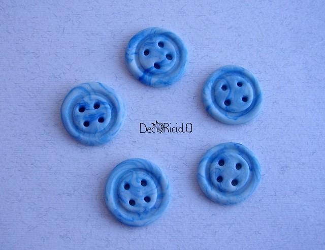 bottoni handmade marmorizzato azzurro tondo 1