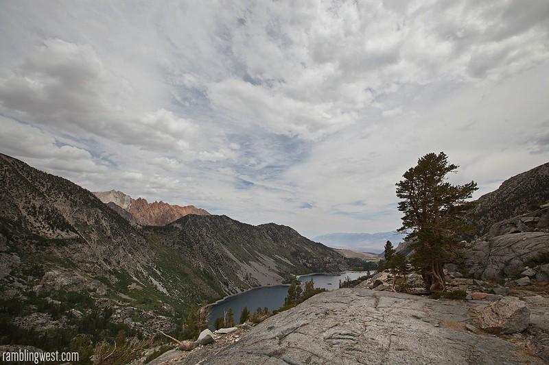 Over Lake Sabrina