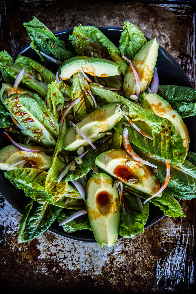 Smoky Romaine and Avocado Salad