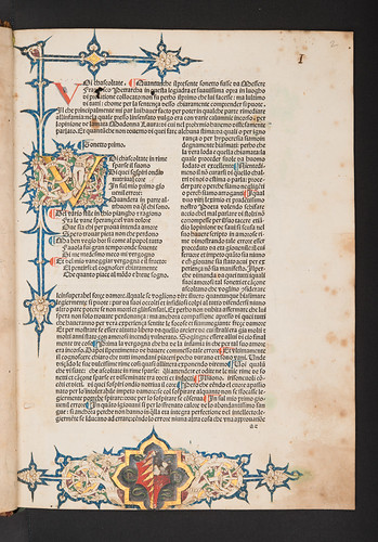 Decorated page with coat of arms in Petrarca, Francesco: Canzoniere