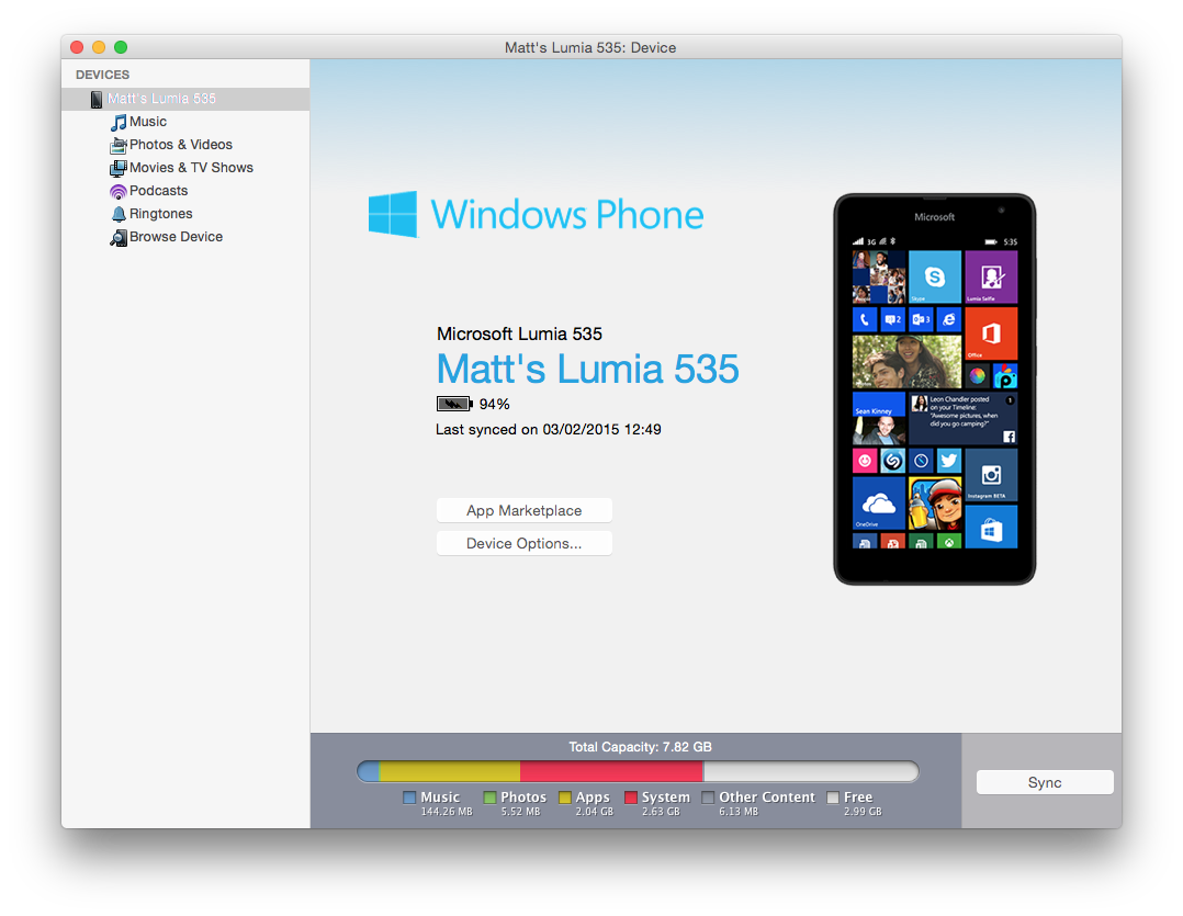 Mac Windows Phone app