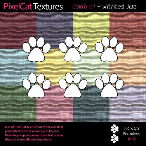 PixelCat Textures - Colab 117 - Wrinkled Jute