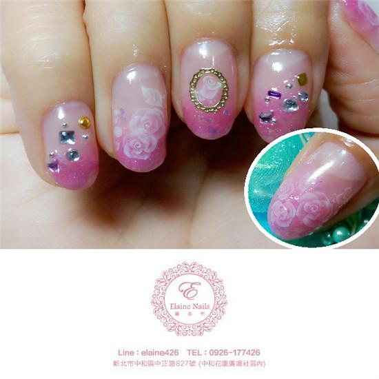 1040127粉紅漸層典雅玫瑰