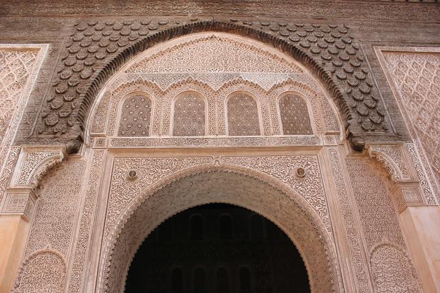 Portal in Medresa Ben Youssef