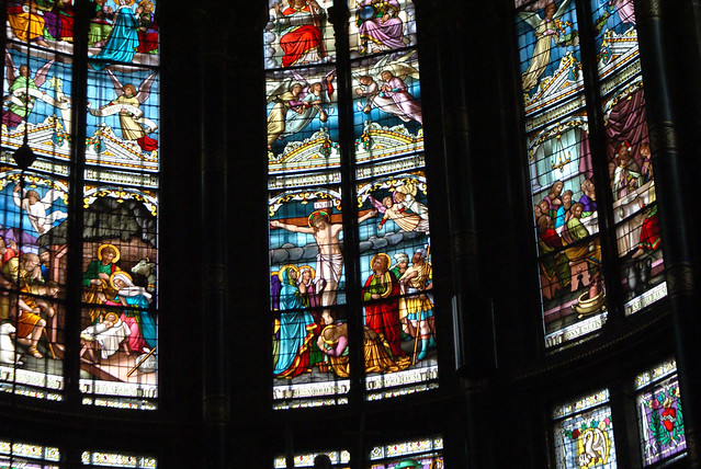 Vitraux de l'église Saint Nicolas à Amsterdam