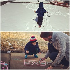 front yard activities, morning and afternoon. oh, oklahoma. :snowflake:,:sunny:,?