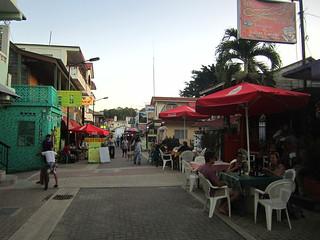 San Ignacio's pedestrian street.  Belize
