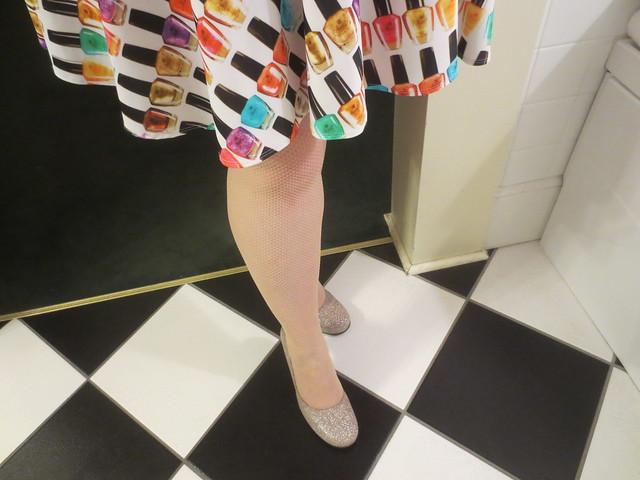 Nail polish skirt