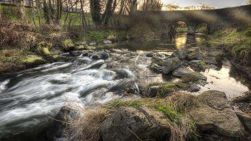 park bridge fall water rock river valley dubin finglas talka
