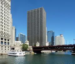 Chicago, Chicago River at the DuSable (Michigan Ave.) Bridge