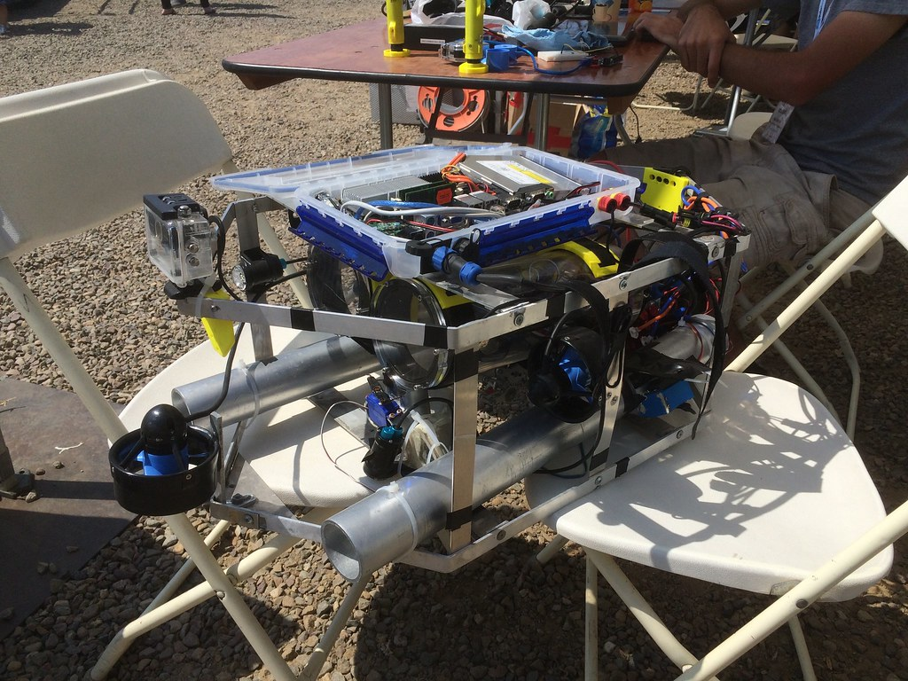 An AUV at the AUVSI RoboSub competition.