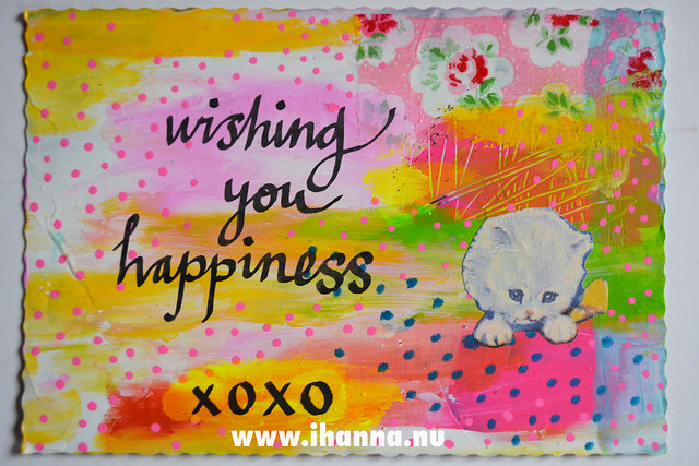 DIY Postcard: Wishing you Happiness