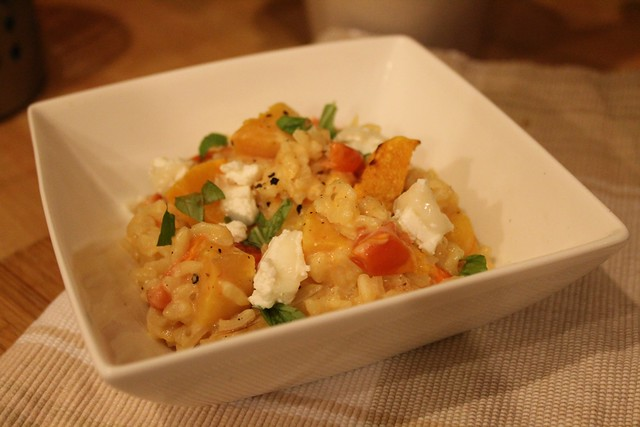 sunrise basil goats cheese risotto 4