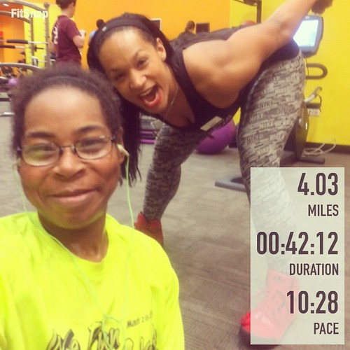 Didn't feel like working out today but I did. My present was a photobomb by @mariahwalkerr. #fitfluential #fitfam #ffcheckin