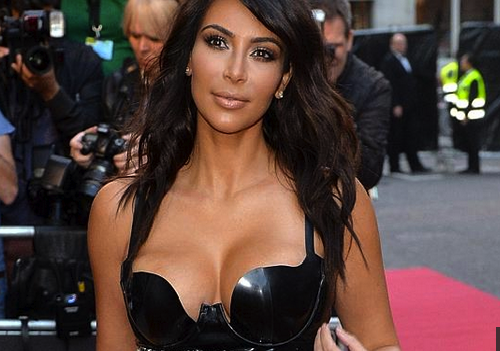 Kim Kardashian's Massive Booty & Huge Boobies Are Busting Out Of Her Tiny Dress! [Photos]