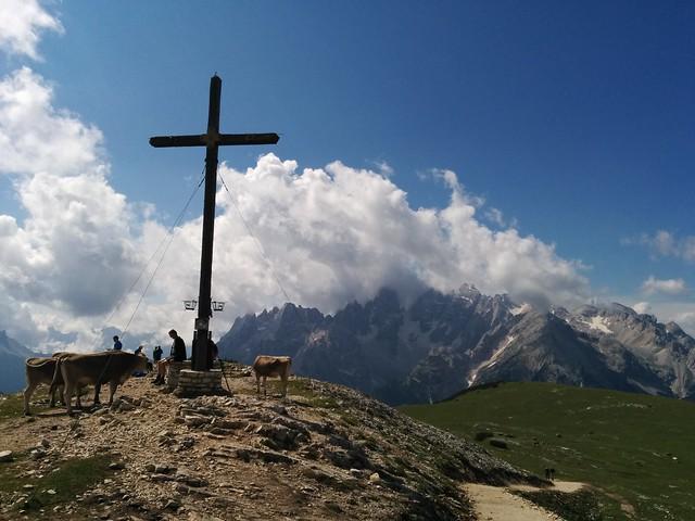 Gipfelkreuz Strudelkopf, Heimkehrerkreuz, Pragser Dolomiten