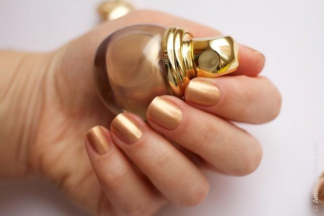 06 Dior Diorific Vernis #241 Gold Equinoxe swatches