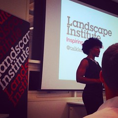 Watching @majoracarter present her new film at the Landscape Institute