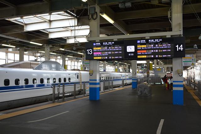 広島駅:新幹線ホーム