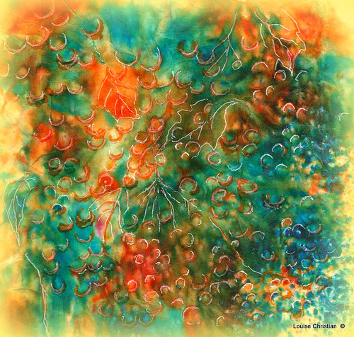 ABSTRACT BERRIES PAINTING