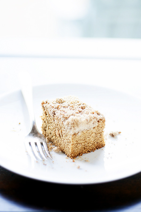 gingerbread coffeecake with spiced ginger streusel