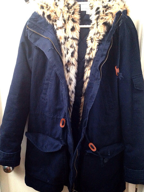 Parka lefties leopardo desmontable