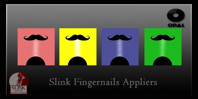 Slink Moustache Fingernails Appliers vendor